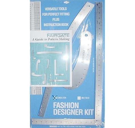 Amazon Com Vogue Fabrics Fairgate Pattern Making Ruler Kit