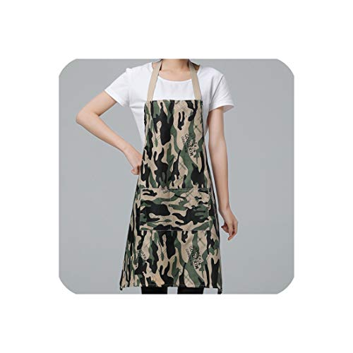 - Women/Men Camo Thick Apron for Kitchen Pinafore for Baking Accessories Chef Apron Commercial Restaurant Home Bib,Camo1,70X71Cm