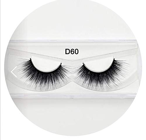 (Lovely-Shop Silk Eyelashes Eye Lashes Hand Made Natural Long Faux Cils Lashes Reusable False Eyelashes Wimpers Beauty Make Up,silk)
