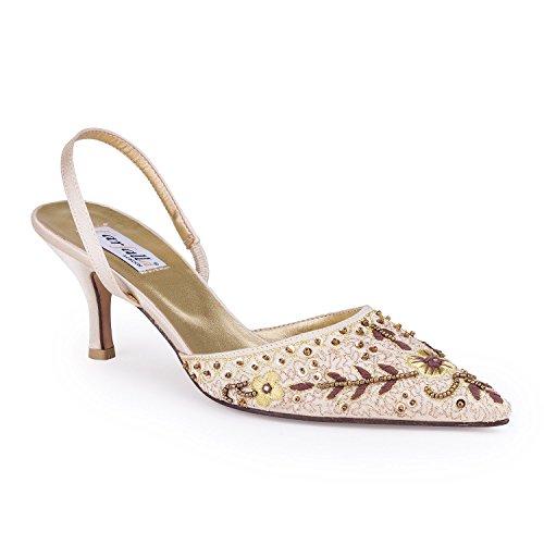 FARFALLA - Zapatos con correa de tobillo mujer Beige - beige