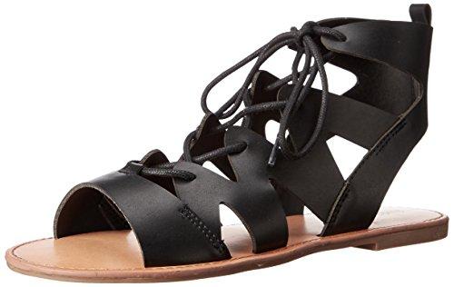 Indigo Rd. Women's Bardot Slipper, Black, 10 M US