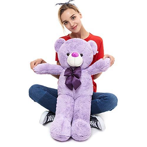 31 Inches Maogolan Adorable  Plush Teddy Bear Stuffed Animals Soft Teddy Bears for Girlfriend Children  (31 Inch Purple)