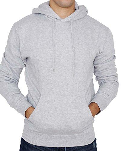 Men's Hooded Sweatshirt - Soft Light Fleece Pullover Hoodie - by New York Avenue