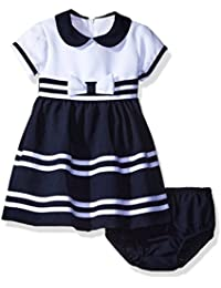 Baby Girls' Peter Pan Collar Nautical Dress and Panty Set