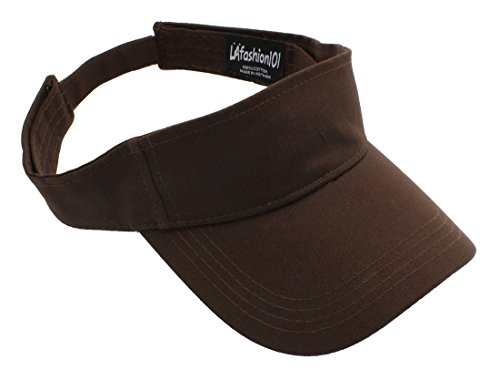 LAfashion101 Sun Sports Visor Hat Cap - Classic Cotton for Men Women, DBR Dark Brown ()