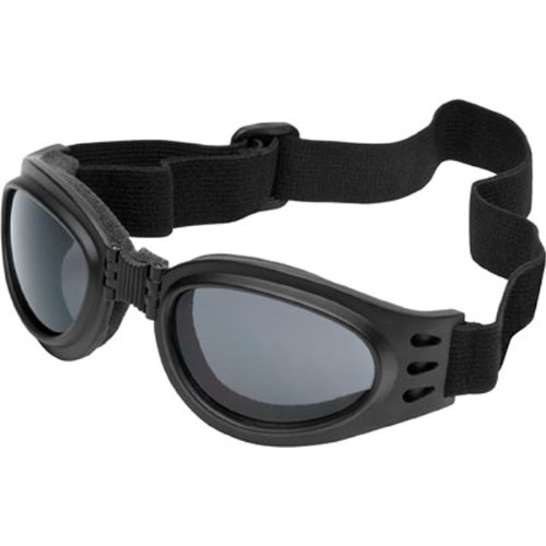 (River-Road Adventure Adult Harley Touring Motorcycle Goggles Eyewear - Smoke / One Size Fits All)