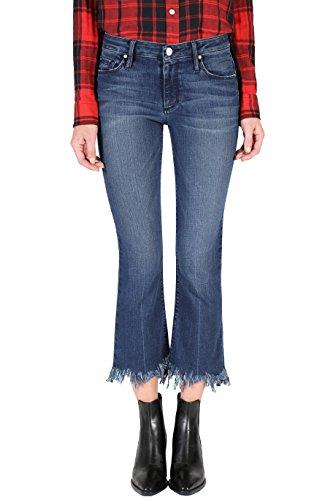 Black Orchid Denim Women's Mia Crop Flare Jean in Showdown, Size 26