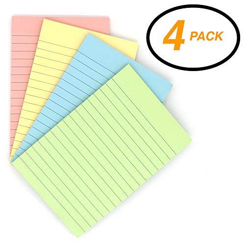Emraw Sticky Notes Stick It Stickies, Lined Medium 4