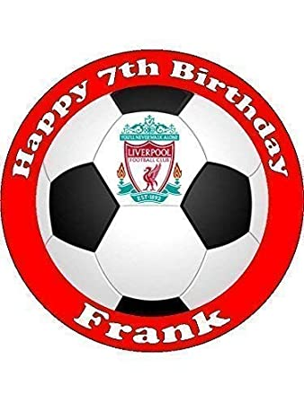 Choose Your Team Personalised Football Cake Topper Round (Ball Design) cecb67064