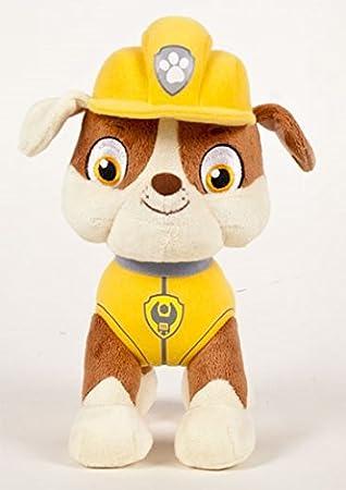 RubbleBulldog Color PatrolPeluche Personaje PieCalidad Inglés Construcción30cm Patrulla Super Caninapaw En Especialista Soft De OiPXkZu
