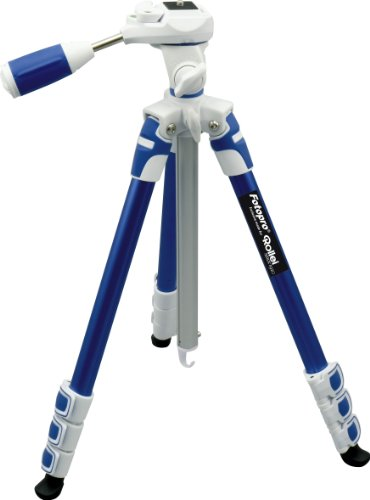 Fotopro S3 4 Section 57 Inch Aluminum Photo   Video Tripod with 3 Way Panhead Payload   2.5kg  Blue