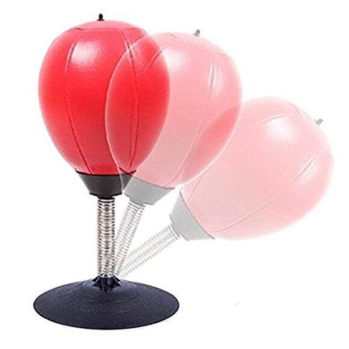 Asamoom Bolso de perforación de escritorio / Ball Stress Buster con fuerte ventosa Bomba de servicio pesado Incluye alivio de estrés para adultos Niños un increíble juguete Gran regalo para Boss Compañero de trabajo
