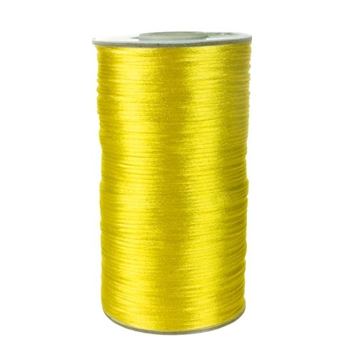 Homeford FC0R000A5640 200 yd Satin Rattail Cord Chinese Knot, 2mm, Canary (Veil Rat Tail)