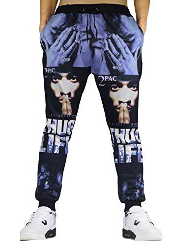 Westkun Men's 3d Printed Hipster Joggers Pants