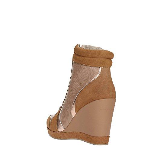 Fornarina Sneaker Zeppa Cm 9 Suede Sand Sand