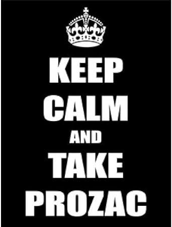 Mantener la calma y tomar Prozac grande en caja lienzo mantener la ...