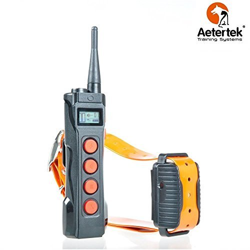 Aetertek AT-919C 1000M Remote One Dog Training Shock Collar, Auto Anti Bark Submersible with LCD display