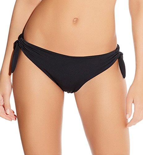 Freya Deco Solid Side Tie Bikini Bottom, L, Black
