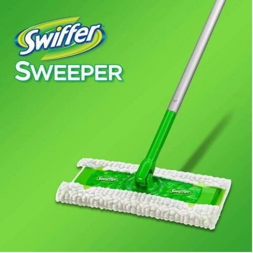Swiffer Sweeper 3 in 1 Mop and Broom Floor Cleaner 1 Sweeper, 6 Dry Sweeping Cloths, 4 Wet Mopping Cloths, and 1 Swiffer Duster by Swiffer (Broom Sweepers)