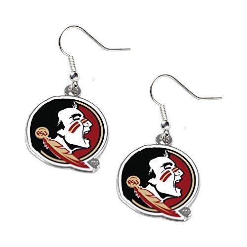 Florida State Seminoles Dangle Logo Earring Set Charm Gift (Florida Seminoles Charm Logo State)