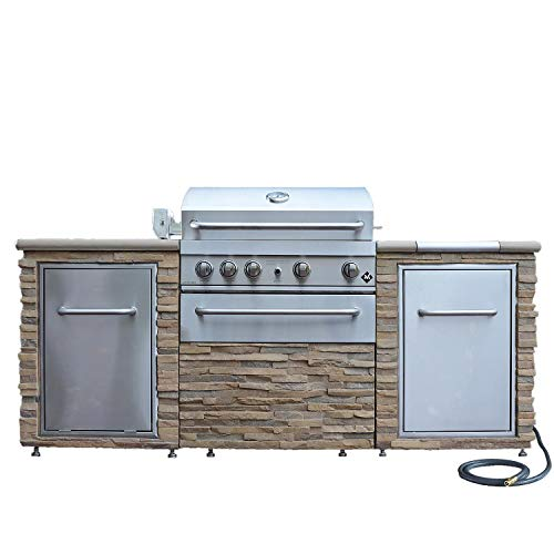 BBQ Grill - Stack Stone Grill Island 72,000 Total BTUs - Propane
