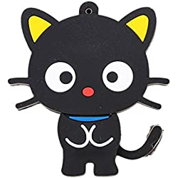 16Gb Black Key Usb 2.0 Flash Cat Form U Disk High Speed Rotation Storage Player