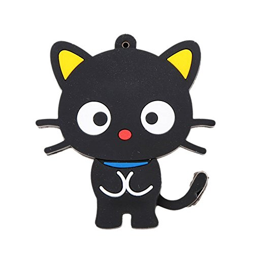 8Gb Black Key Usb 2.0 Flash Cat Form U Disk High Speed Rotation Storage Player ()
