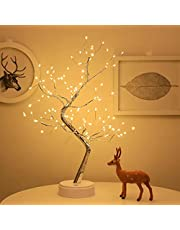 108 LED Firefly Tree Lights - DIY Artificial Bonsai Tree Lights, USB Battery-Powered Touch Switch Warm Fairy Lights Tree Lamp for Christmas Party Home Decoration