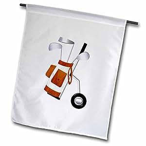 TNMGraphics Sports - Brown Golf Cart on Wheels - 18 x 27 inch Garden Flag (fl_56036_2)