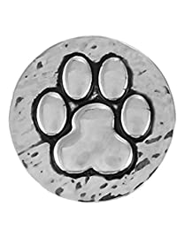 HAMMERED PAW PRINT SN20-01 Interchangeable Jewelry Snap Accessory