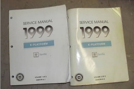 1999 CADILLAC SEVILLE Service Shop Repair Manual Set W TRANSMISSION UNIT BOOKS