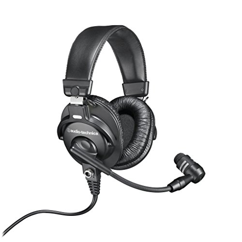 Audio-Technica BPHS1 Broadcast Stereo Headset with Dynamic Cardioid Boom Mic Audio Technica Lightweight Headphone