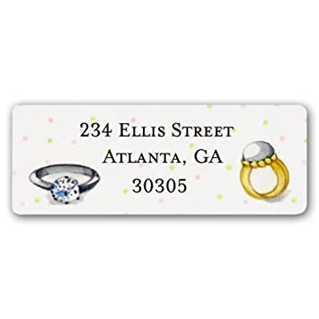 amazon com bling bling return address labels health personal care