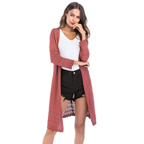 FANOUD Women's Loose Gradient Solid Knit Tassel Cardigan Retro Long Sleeve Coat by FANOUD (Image #5)
