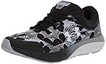 Under Armour Kids' Grade School Charged Bandit 5 Camo Sneaker, Black (001)/White, 7