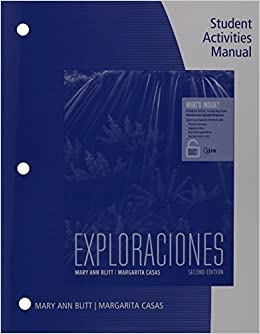 Exploraciones Student Activities Manual With ILrnTM Heinle