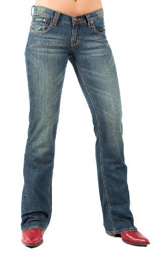 Lawman Western Jeans (Petrol Jeans - Cameron (Size 6 x 34L))