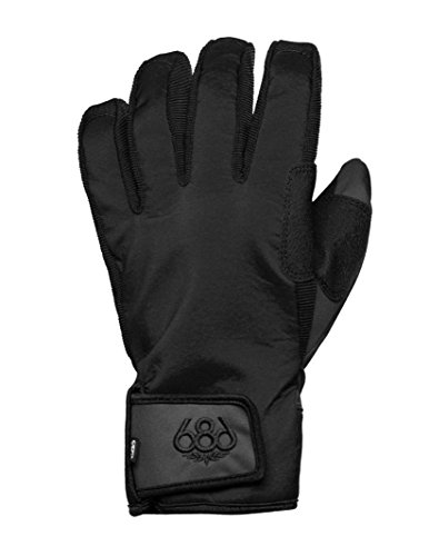 686 Men's Authentic Surface Pipe Gloves, Black, Large - Black Pipe Glove