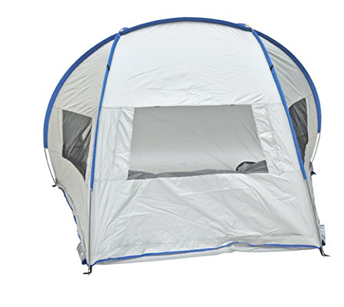 Solar Guard Jumbo Deluxe Beach Shelter with Ventilation Panels and Door UPF 120+