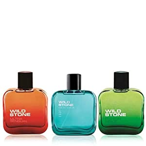 Wild Stone Edge, Forest Spice and Ultra Sensual Perfume for Men, 100 ml each (Pack of 3)