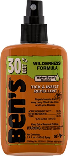 - Ben's 30% DEET Mosquito, Tick and Insect Repellent, 3.4 Ounce Pump