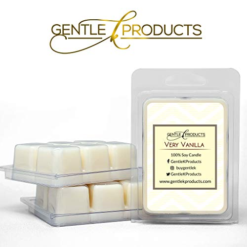 Gentle K 100% Hand-Poured All Natural Soy Wax Scented Melts-13 Fragrances - 2.6oz  (Very Vanilla) Wax Warmer Cubes, Tarts with Therapeutic Essential Oil (Set of - Vanilla Wax