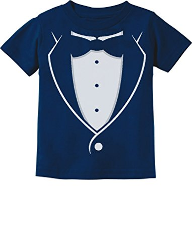 Bow-tie Suit Funny Gift for Boys Toddler/Infant Kids T-Shirt 3T Navy ()