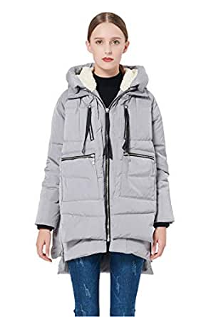 Orolay Women's Thickened Down Jacket (2XS, Gray)