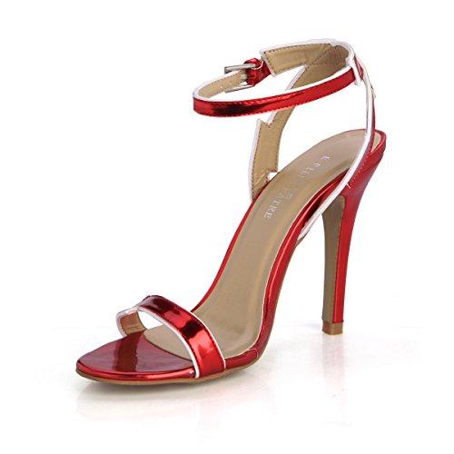 En Primavera Interés De Multa Modelo Mujer Zapatos Anual T Femenino Red Escritorio Sandalias Wine Hasp Alto Y Una Nueva Verano Con ZgxtWAW6qw