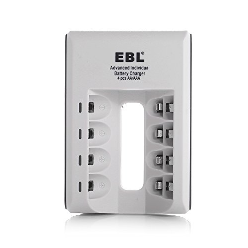 EBL Individual Smart Battery Charger for AA AAA Ni-MH Ni-CD Rechargeable Batteries
