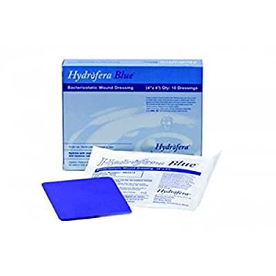 "Hydrofera Blue Bacteriostatic Foam Dressing 4"" X 4"", Box of 10"