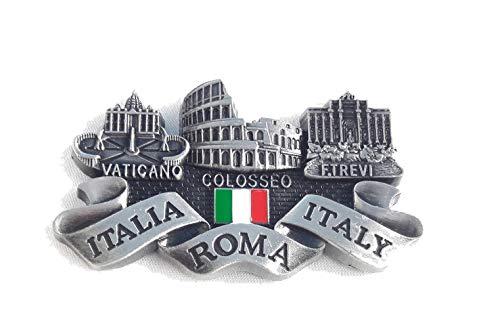 New gray Fridge metal Magnet Italy Rome Vatican/Colosseum/trevi Fountain italia