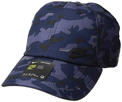 (NIKE Sportswear Unisex AeroBill H86 Cap, Midnight Navy/Black, One)