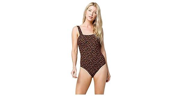 497ecec188d6 Amazon.com: IVY & MAIN Ditsy Square Neck Bodysuit, Black, Small: Clothing